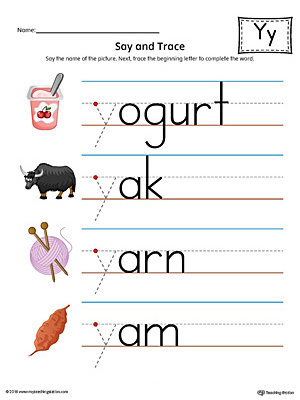 free worksheets y words kindergarten free math worksheets for kidergarten and preschool children. Black Bedroom Furniture Sets. Home Design Ideas