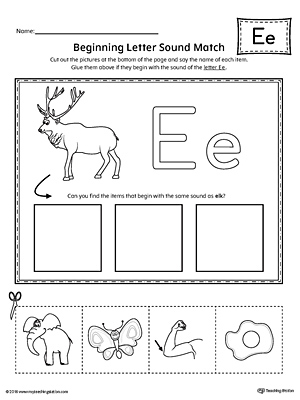 Uppercase and Lowercase Letter E Printable Writing Mat ...