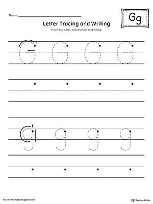 Letter G Writing Steps Mat Printable   MyTeachingStation.com