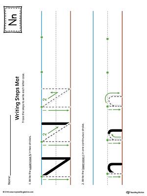 Common Worksheets letter nn worksheet : Number Names Worksheets : letter n worksheets kindergarten Letter ...