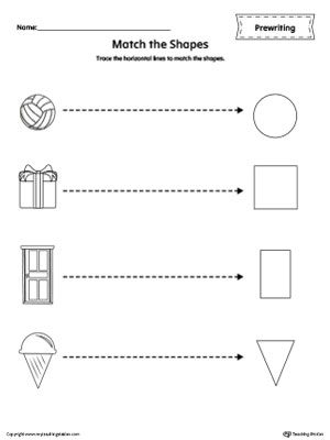 Common Worksheets » Shapes Tracing Worksheets - Preschool and ...